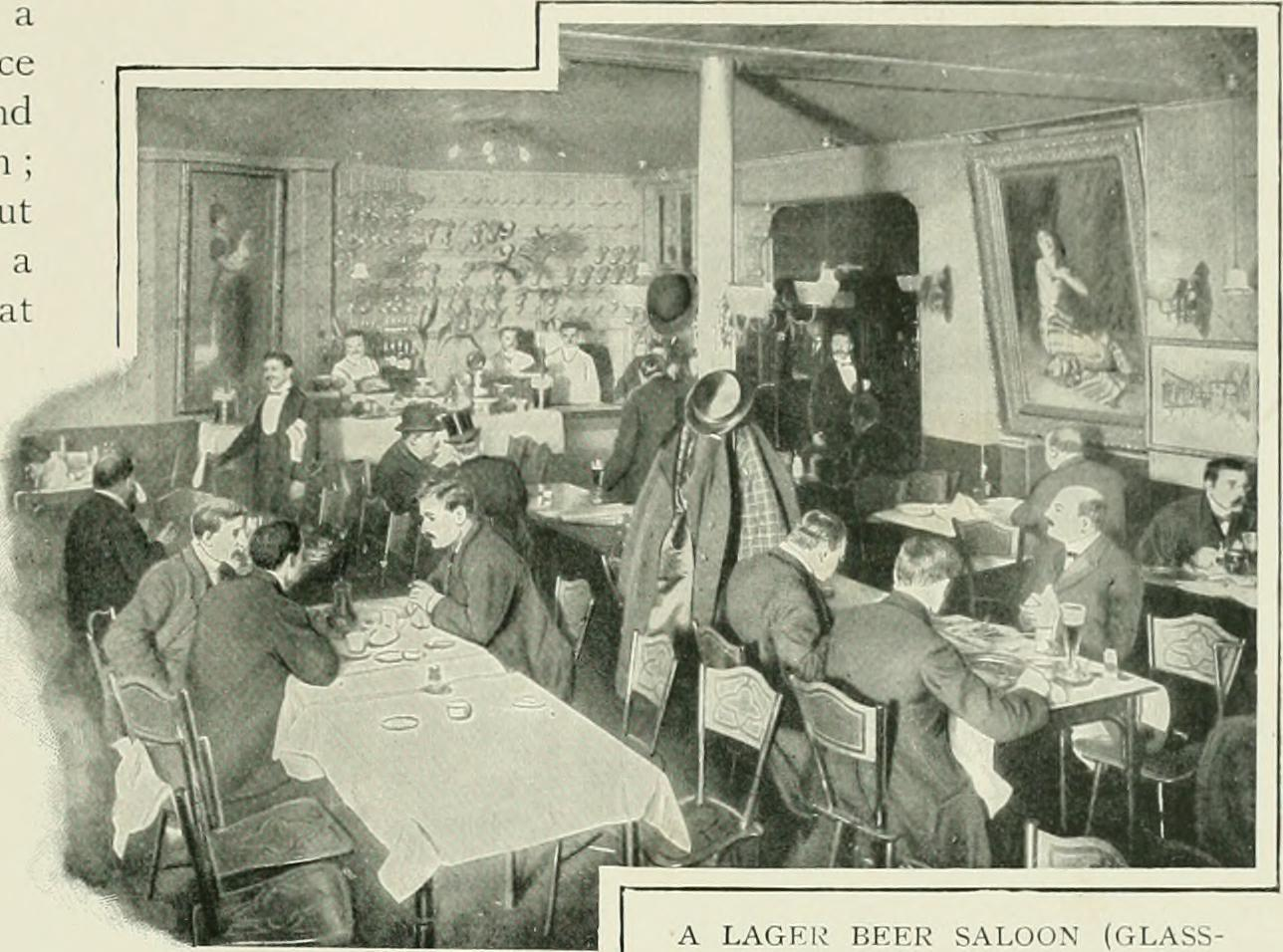A lager beer saloon on Glasshouse Street in Soho, just off Regent Street.