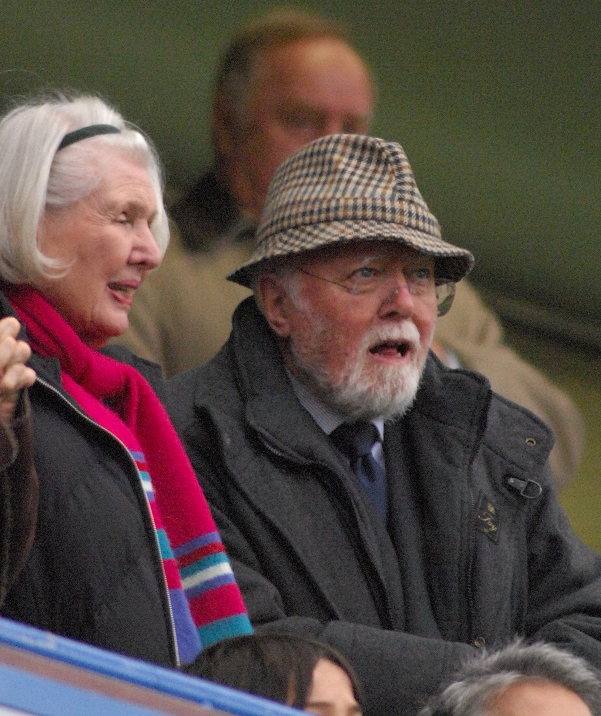 Richard Attenborough at Stamford Bridge for  Chelsea v Wigan Athletic, 2007.