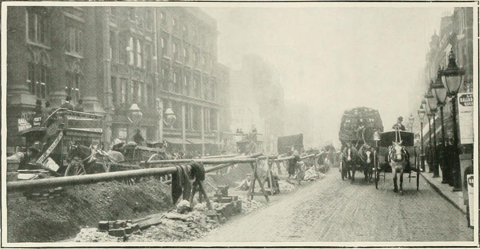 Oxford Street roadworks are nothing new.
