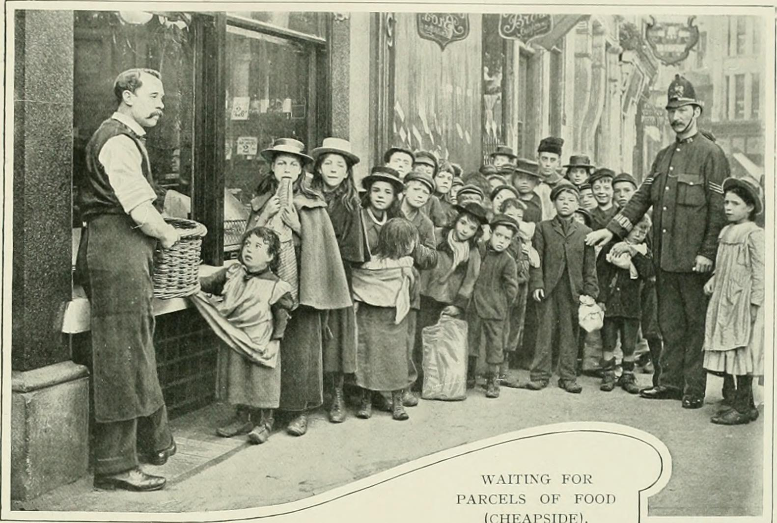 Waiting for Parcels of Food (Cheapside) c.1900