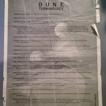 The 1984 Glossary Given to Audiences of David Lynch's 'Dune'