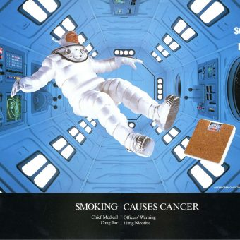 When Intrepid Spacemen Sold Cigarettes:  Tobacco Advertising In The Cosmos