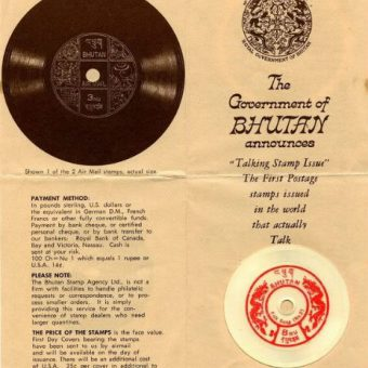 In 1972 Bhutan Relased These Vinyl Stamps That Played The National Anthem