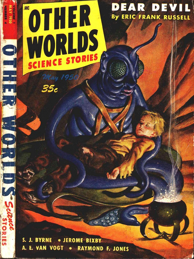 Image result for pulp sf cover alien world