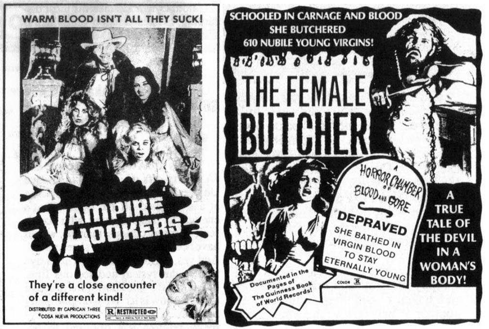 Horror Movie Newspaper Adverts of the 1960s-70s - Flashbak