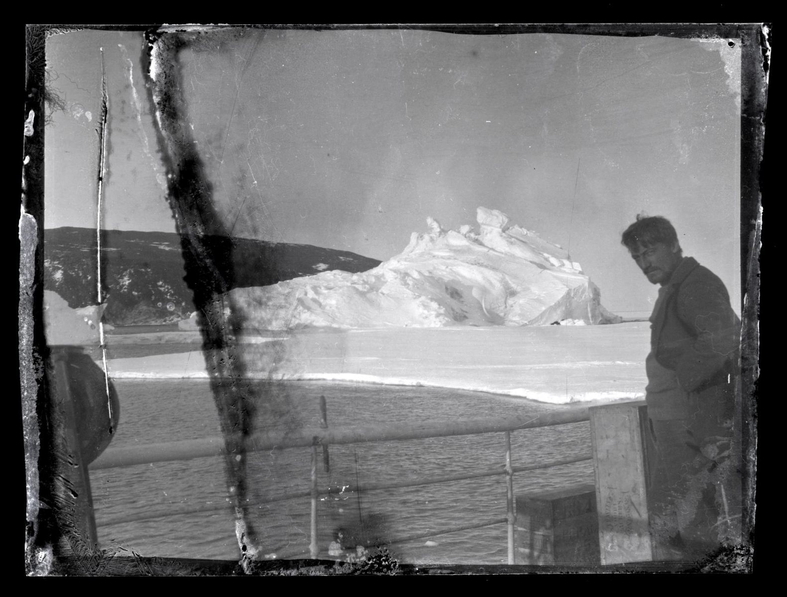 Alexander Stevens on the deck of the Aurora, McMurdoSound, Antarctica