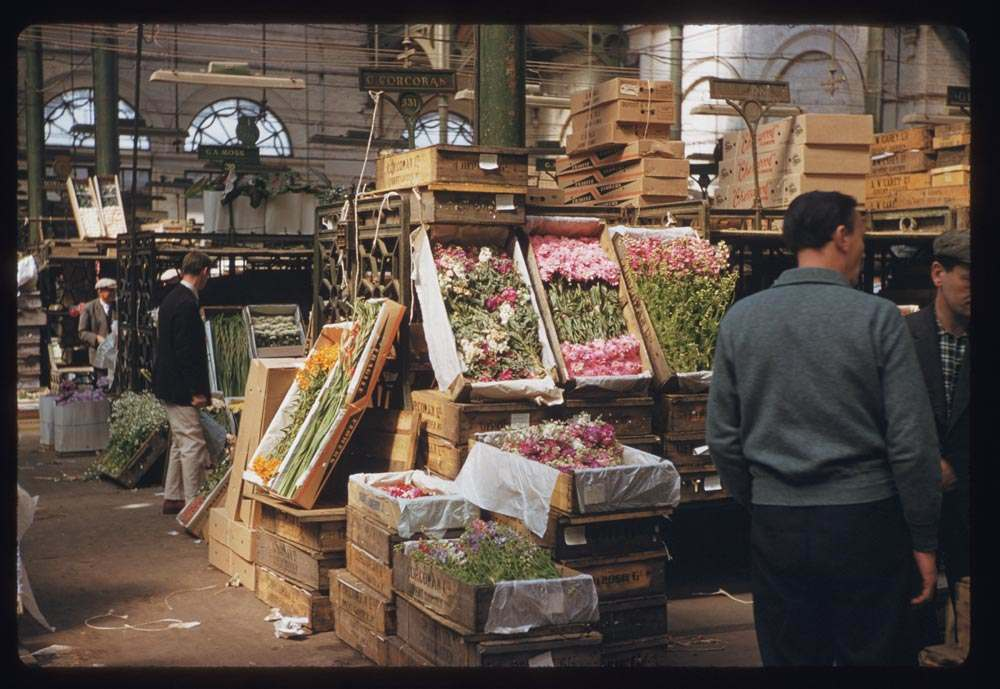 Covent Garden market in 1961 by CW Cushman.