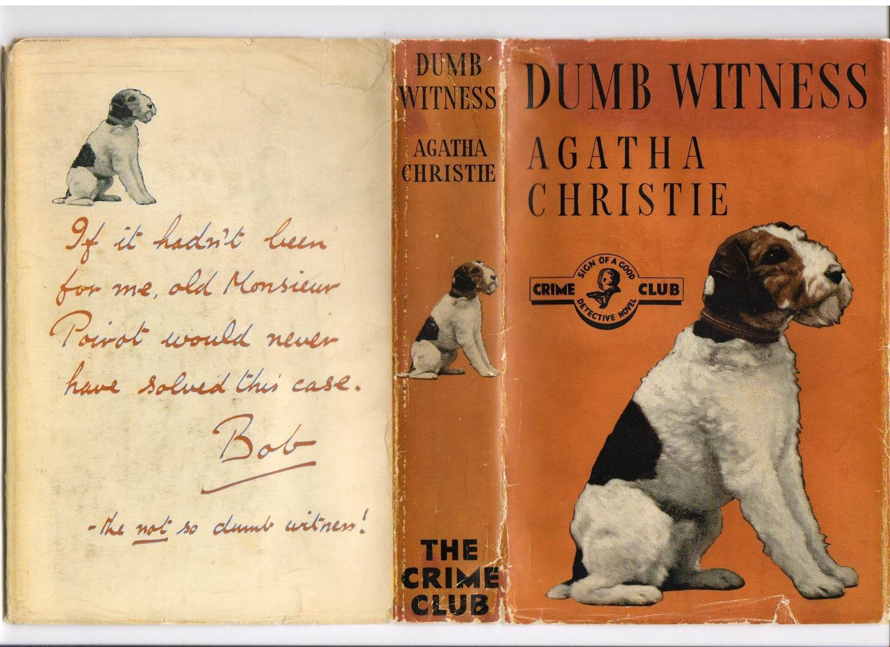 Dumb Witness First UK Edition published in 1937