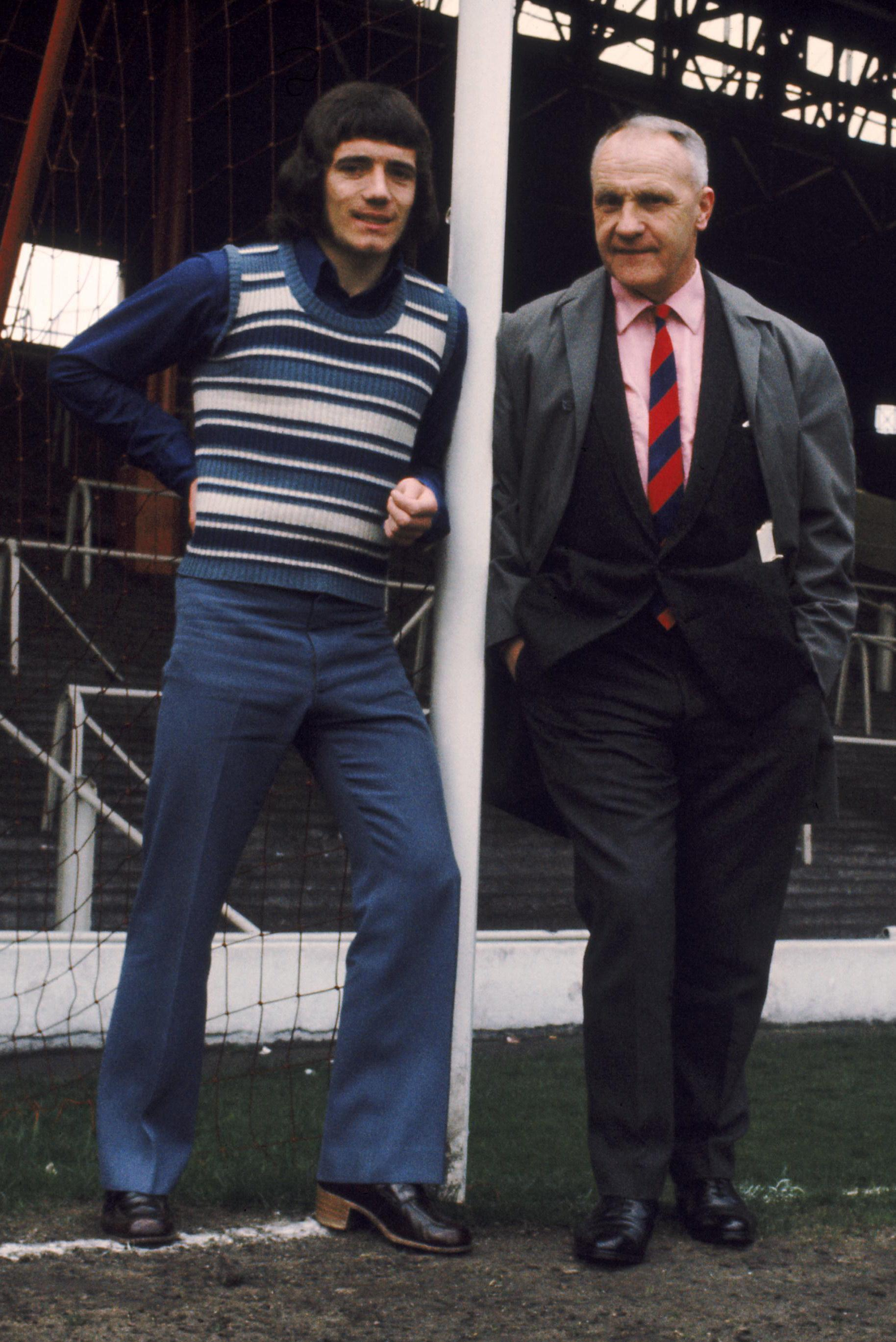Liverpool Manager, Bill Shankly, with new signing Kevin Keegan, 1971.