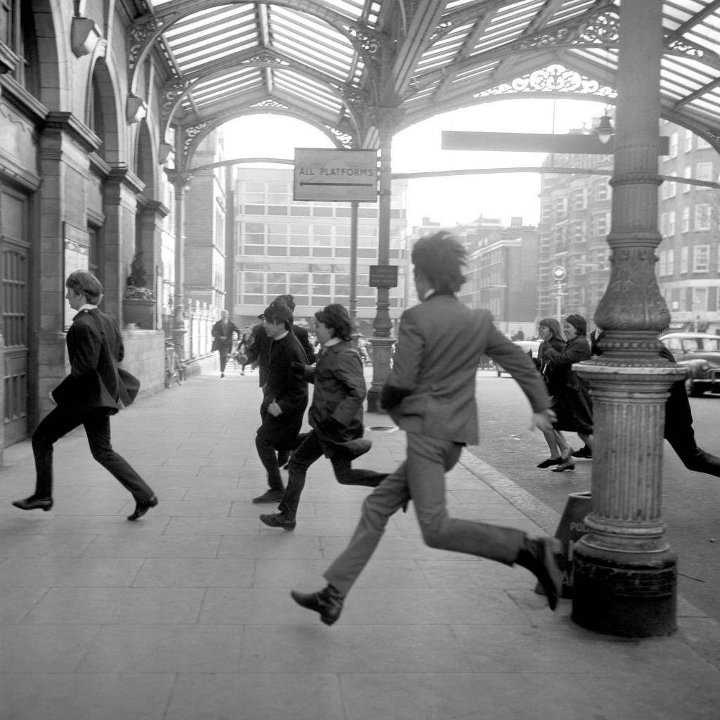 Music - The Beatles film at Marylebone Station - 1964