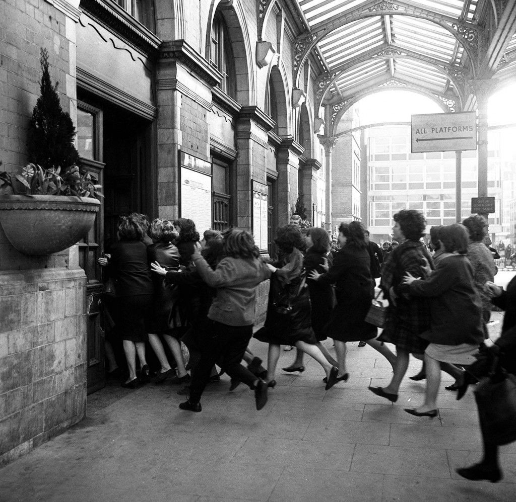 Beatles fans in film chase at Marylbone Station