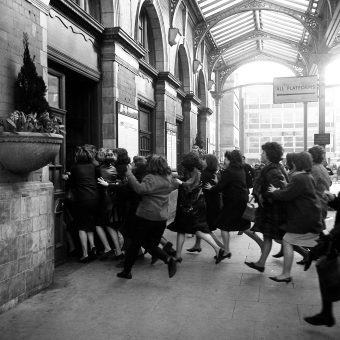 1964: Fans Chase The Beatles Into London's Marylebone Station
