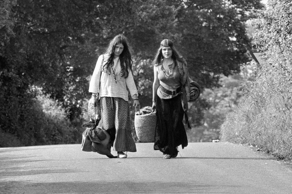 Two Glastonbury festival goers. 23/06/1971 Picture by: PA/PA Archive/Press Association Images Image Size: 4096x2731