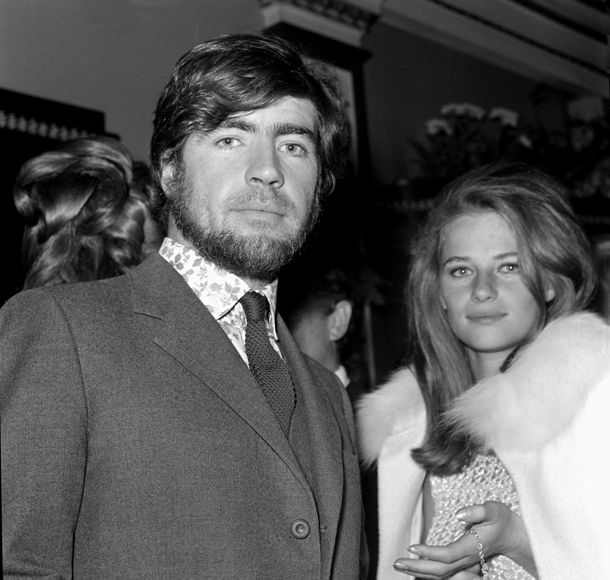Alan Bates and Charlotte Rampling. 01/01/1967