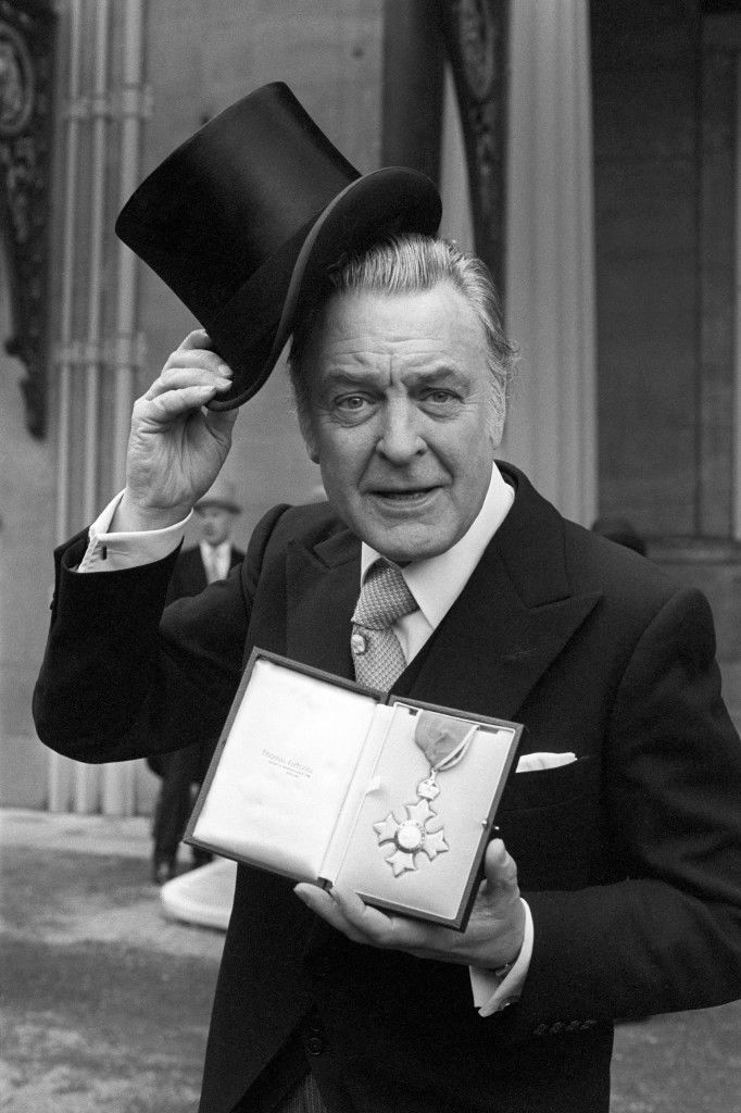 Actor Donald Sinden with his CBE, which he received from the Queen at Buckingham Palace.
