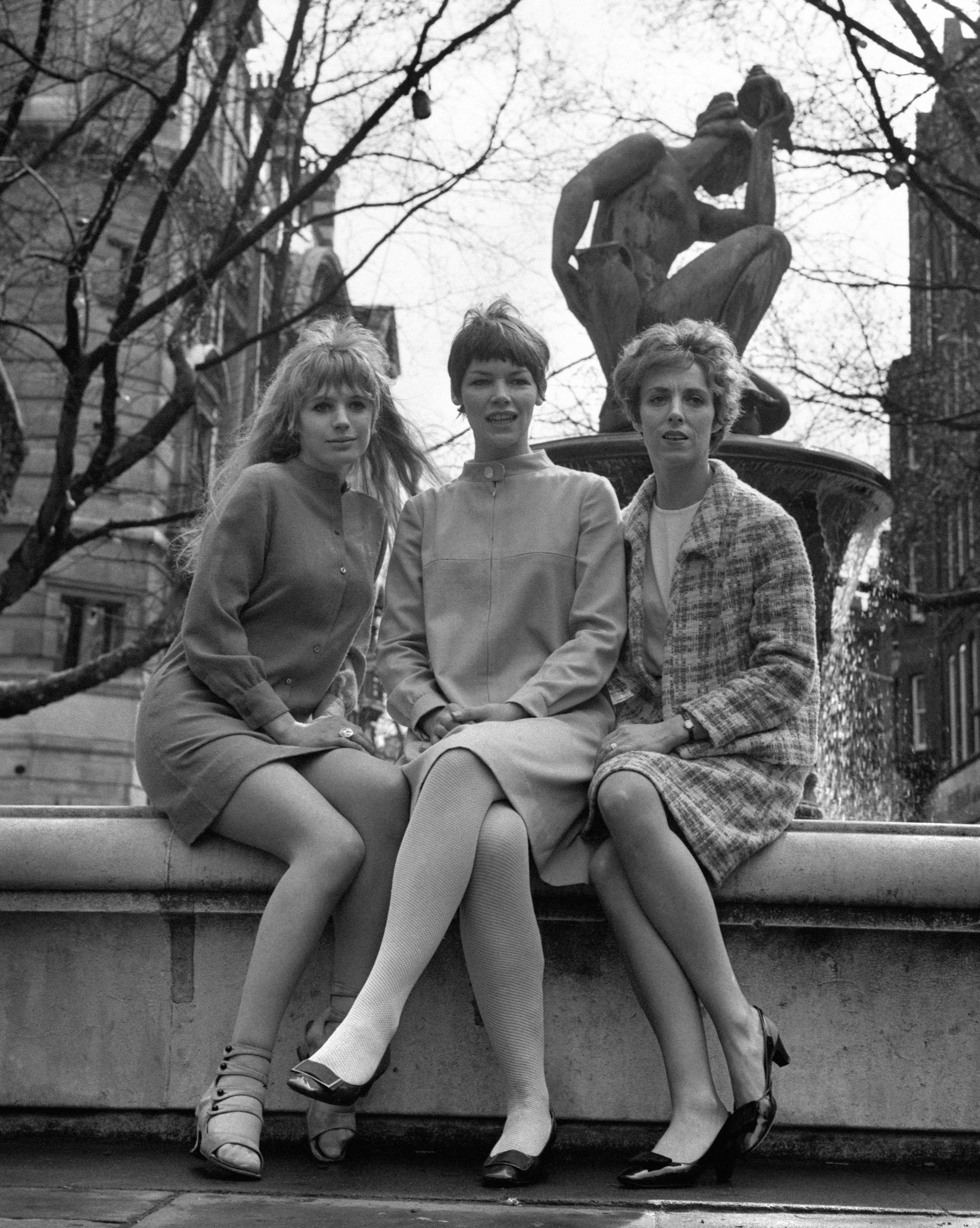 A new look for Anton Chekov's play, 'The Three Sisters', which is being revived at the Royal Court Theatre. The actresses are Marianne Faithfull, Glenda Jackson (centre) and Avril Elgar (right). 07/04/1967