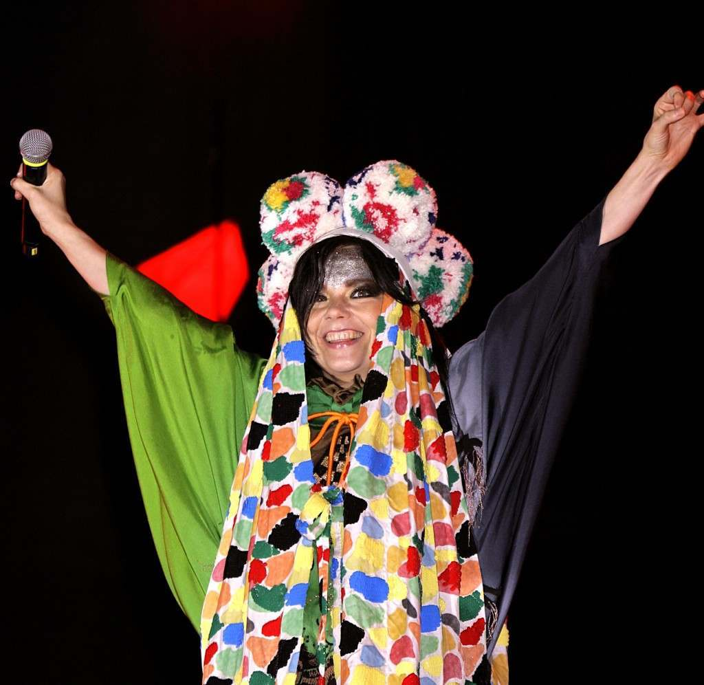 Icelandic singer/songwriter Bjork during her performance on the Other Stage at the 2007 Glastonbury Festival at Worthy Farm in Pilton, Somerset. 22/06/2007 Picture by: Yui Mok/PA Archive/Press Association Images Image Size: 2336x2274