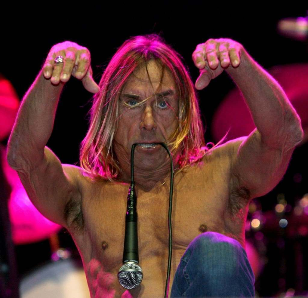 Iggy Pop during his performance on the Other Stage at the 2007 Glastonbury Festival at Worthy Farm in Pilton, Somerset. 23/06/2007 Picture by: Anthony Devlin/PA Archive/Press Association Images Image Size: 2016x1952