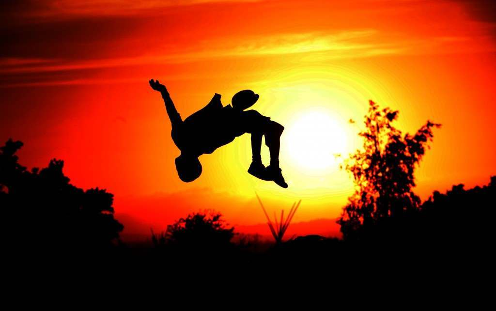 12-year-old Elliott Hatchett from London performs back-flips in the stone circle at sunset on the final day of  the 2008 Glastonbury Festival 29/06/2008 Picture by: Anthony Devlin/PA Archive/Press Association Images Image Size: 6000x3767