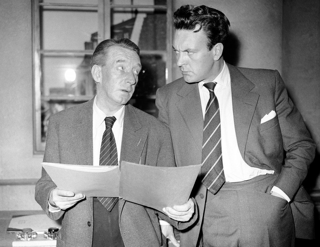 Actors Wilfred Pickles, left, and Donald Sinden in the BBC TV play 'The Frog' Ref #: PA.7125321  Date: 09/07/1956