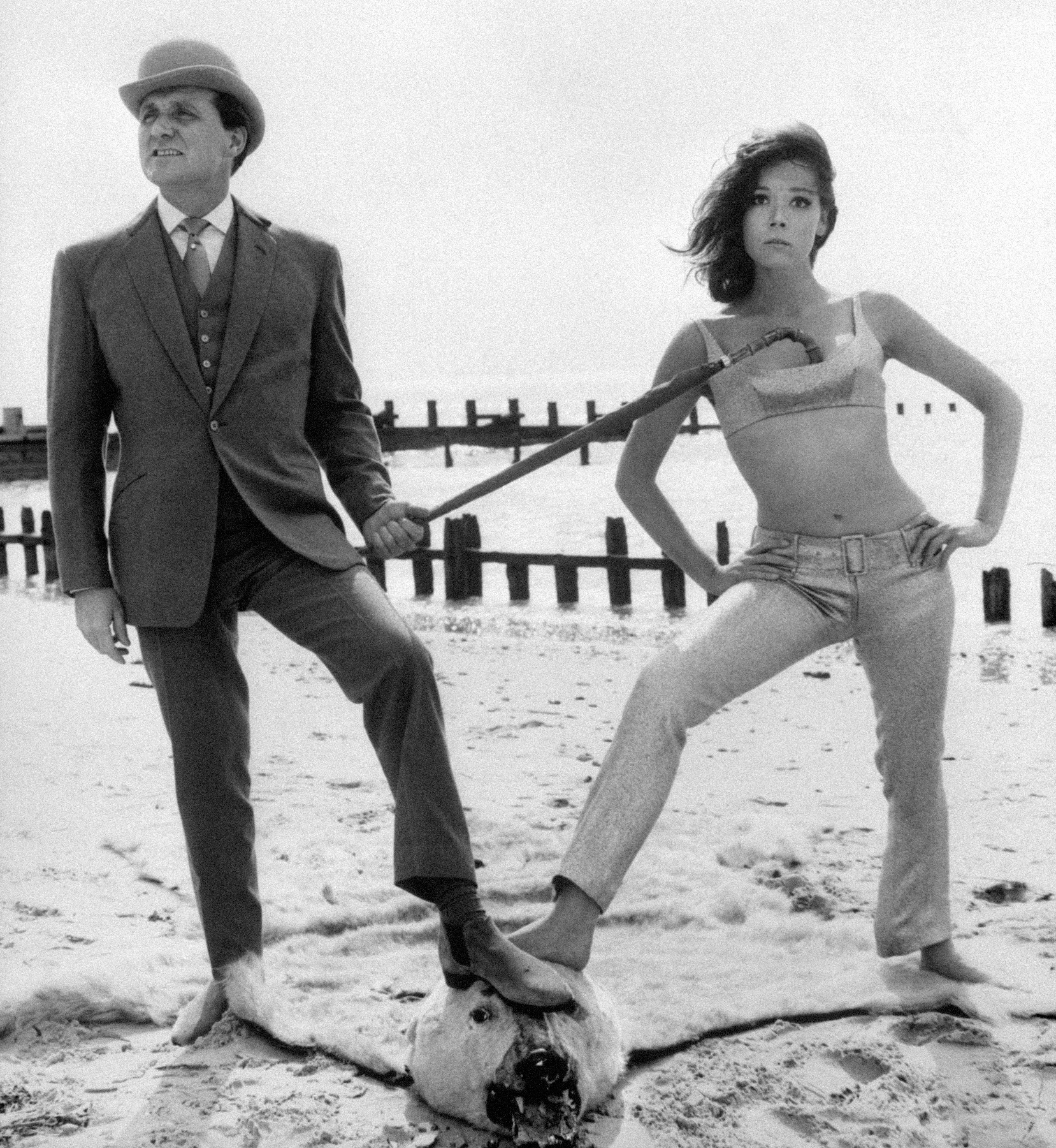 File dated 27.9.65 of actor Patrick Macnee, as John Steed, and Diana Rigg as Emma Peel, in the sixties hit series The Avengers.  Award-winning actor Ralph Fiennes is to  play pinstriped hero John Steed, opposite Sean Connery as the diabolical villain Sir August de Wynter, with Uma Thurman playing Emma Peel, in a film remake of the classic series, it was announced today (Friday