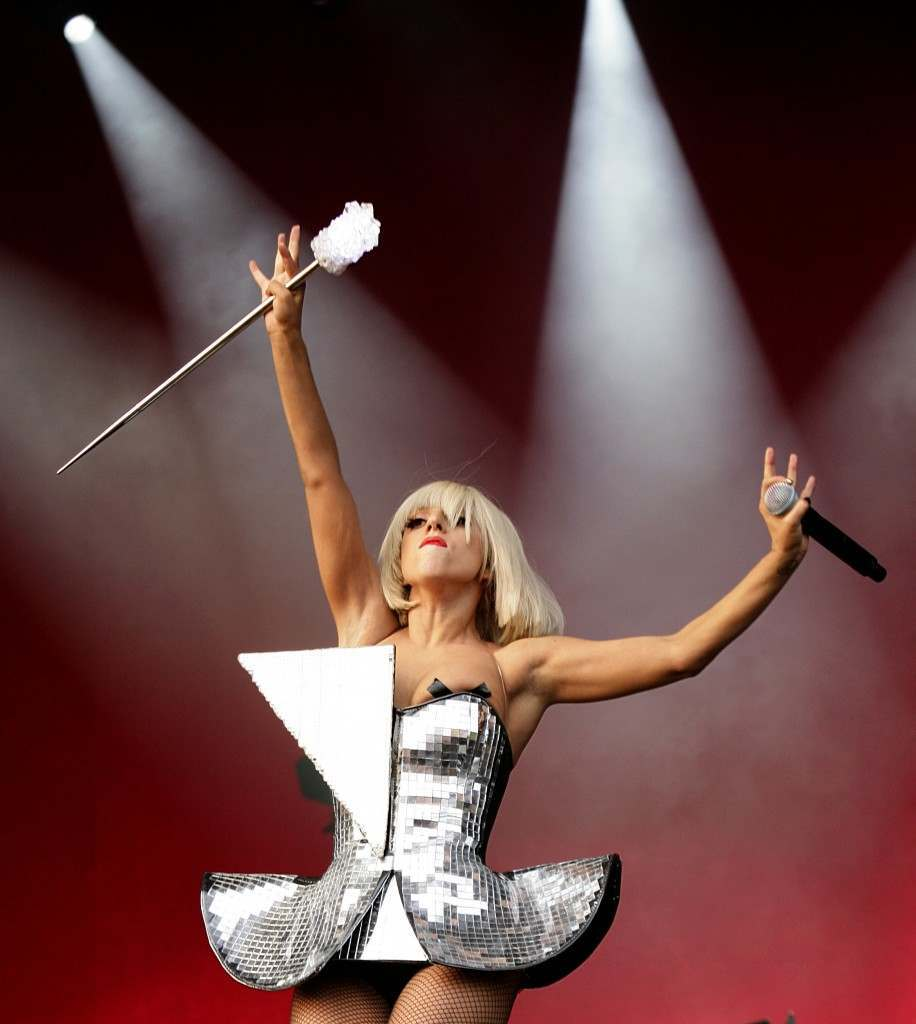 Lady Gaga performing on the Other Stage during the 2009 Glastonbury Festival at Worthy Farm in Pilton, Somerset. 26/06/2009 Picture by: Yui Mok/PA Archive/Press Association Images Image Size: 2338x2613