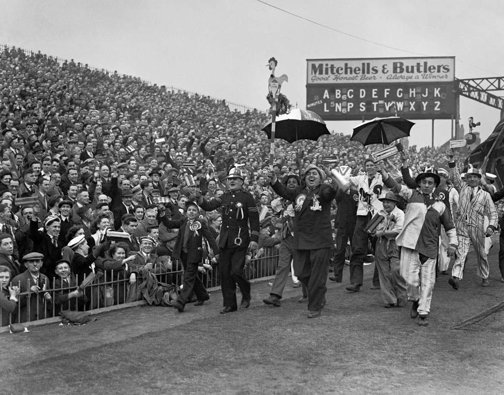 Soccer - FA Cup Semi-Final - Blackpool v Tottenham Hotspur - Villa Park Part of the 70,000 crowd that attended with a large number of supporters parading around the ground before the start of the match. Ref #: PA.8757872 Date: 13/03/1948