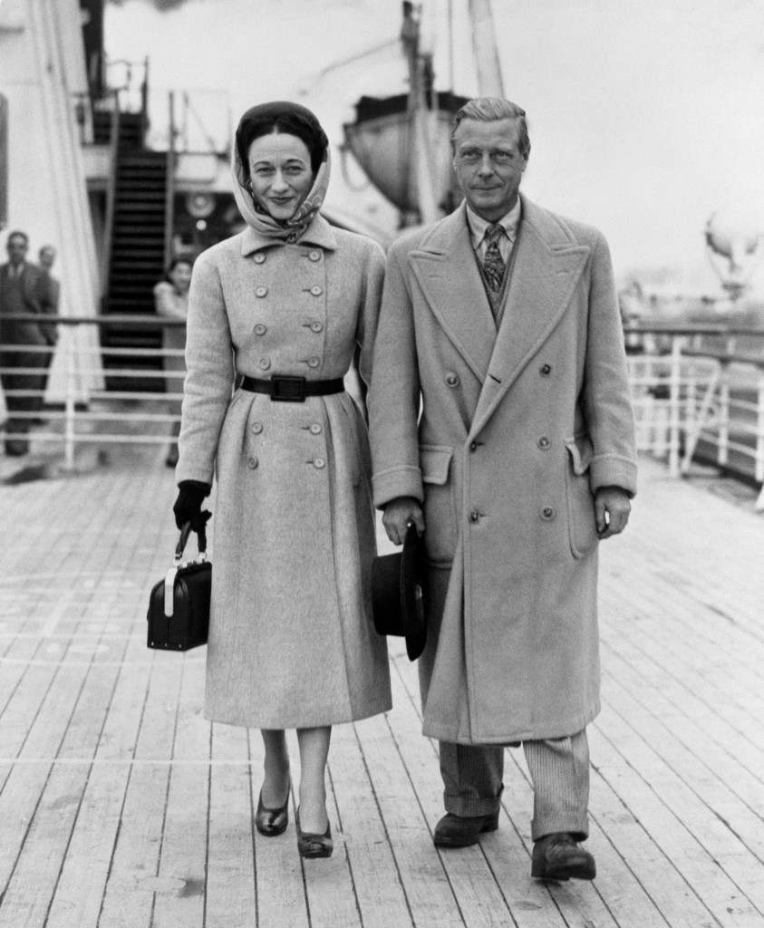 The Duke and Duchess of Windsor aboard the 'RMS Queen Mary', arriving at Southampton Dock from America. Date: 05/11/1947