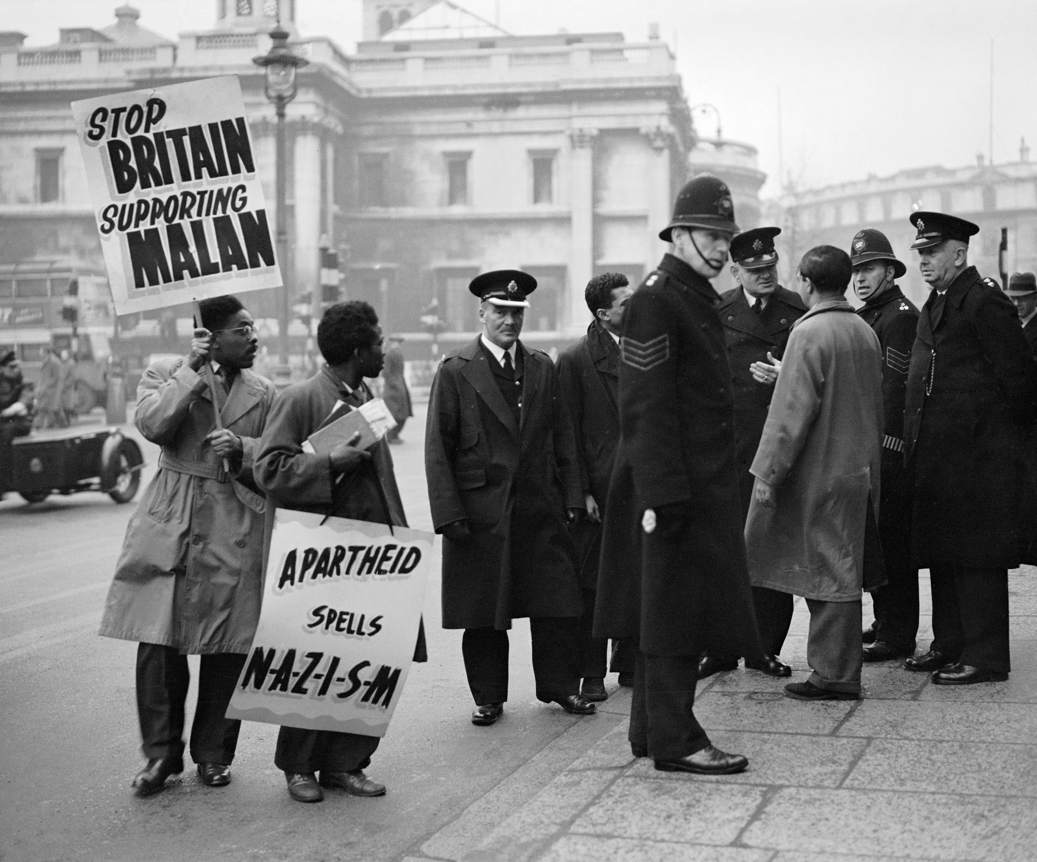 Another demonstration in Trafalgar Squre the following week. 19th Jan 1951.