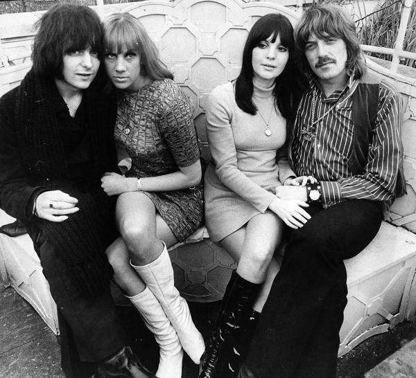 Ritchie Blackmore and Jon Lord with girlfriends
