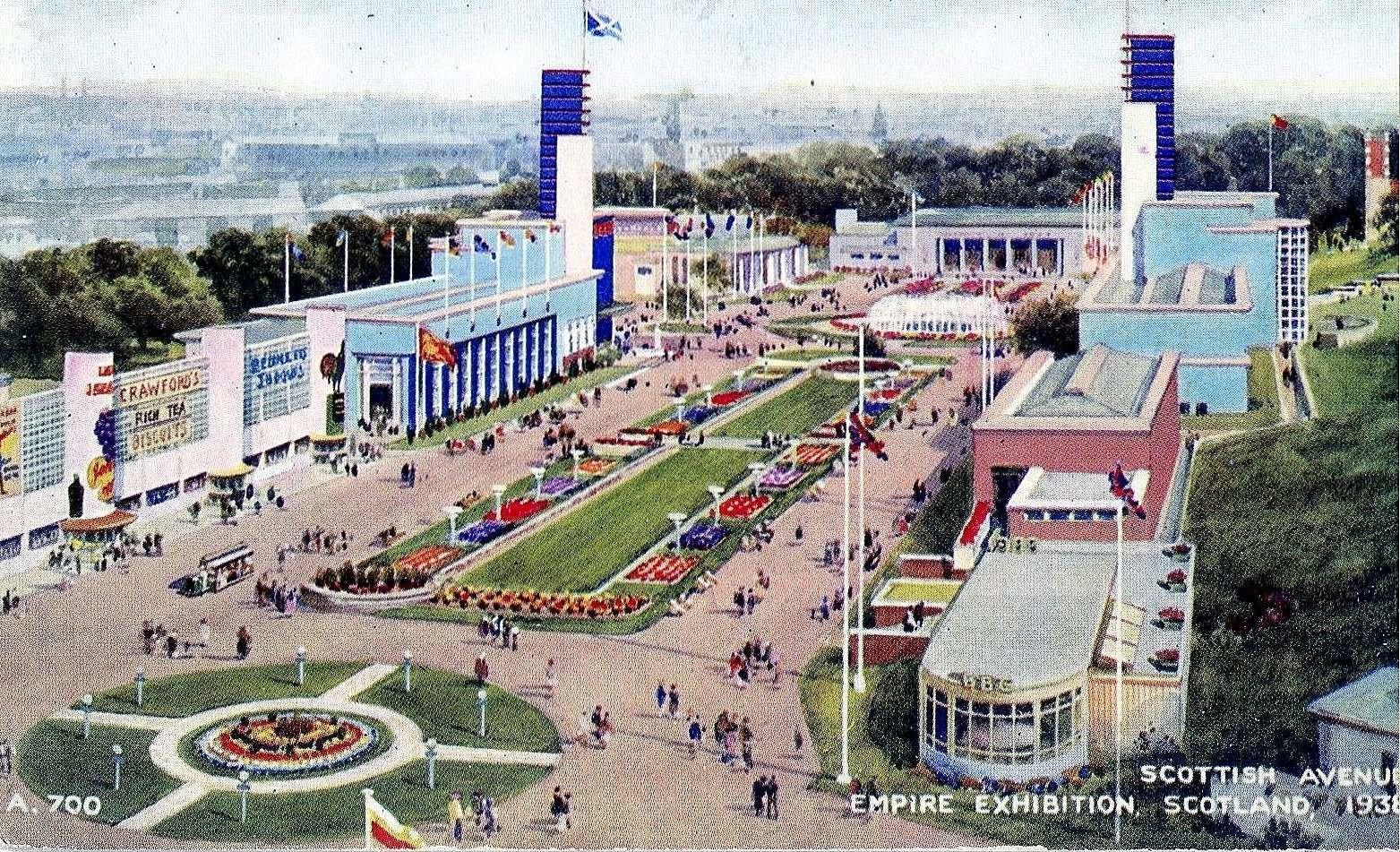Scottish Avenue at the Empire Exhibition, 1938.
