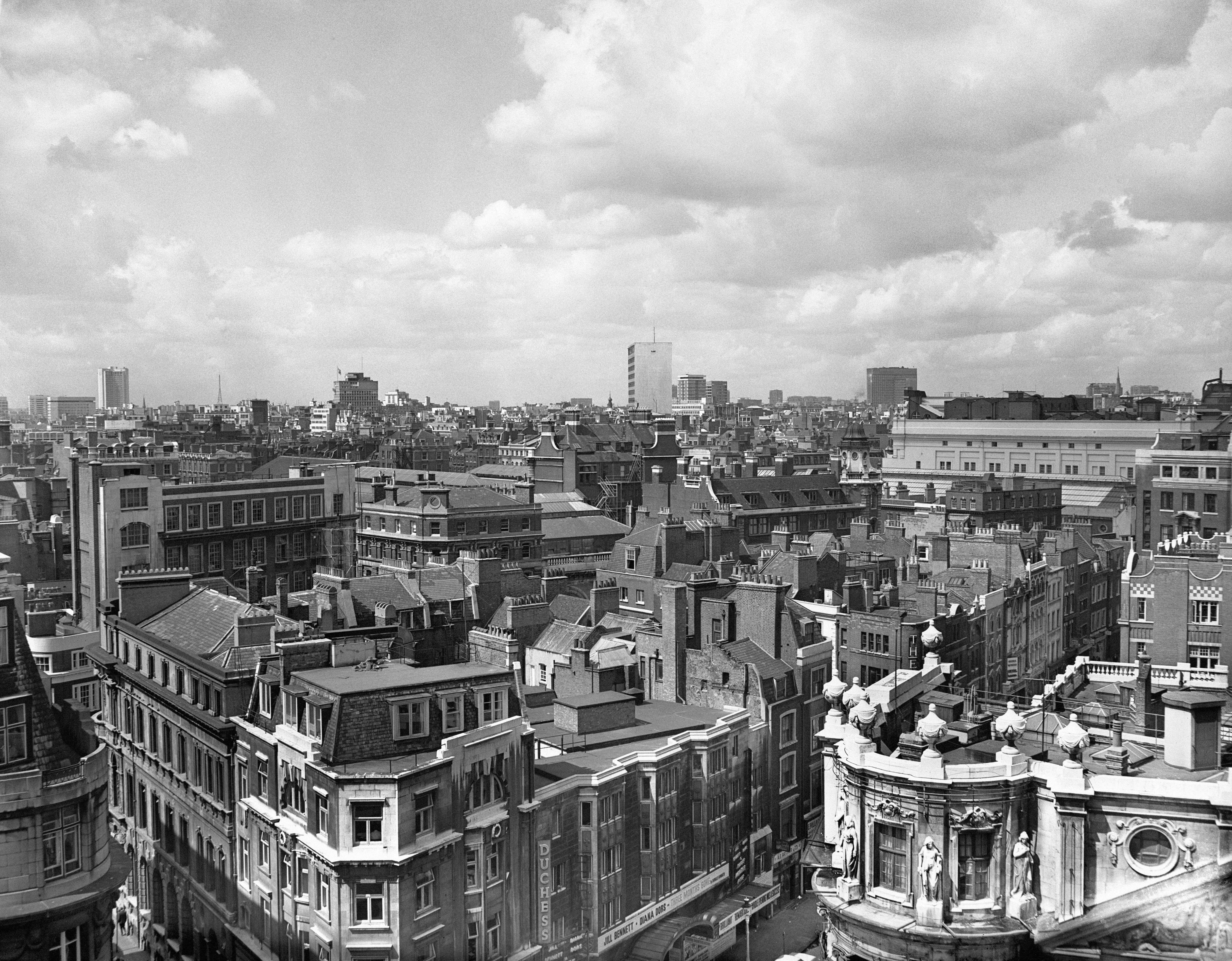 The redevelopment area of Covent Garden pictured from the Strand.