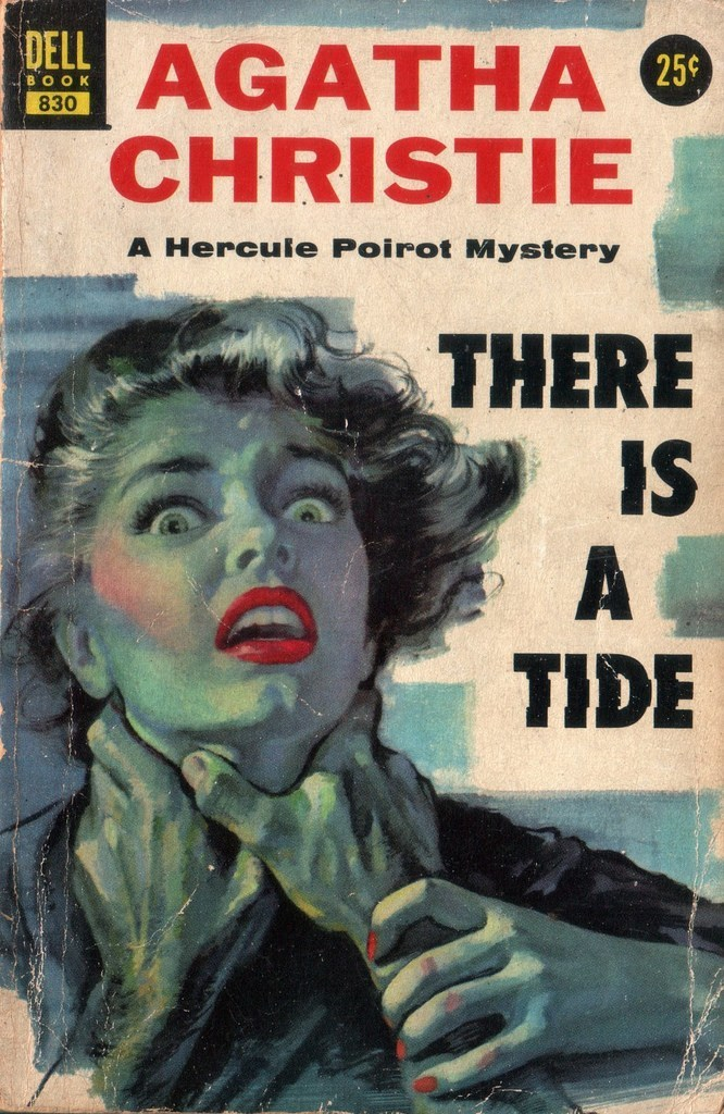 "There is a Tide was first published in the US in 1948. In the UK it was called Taken at the Flood. Both titles come from a line in Shakespeare's Julius Caesar in a speech by Brutus in Act IV: ""There is a tide in the affairs of men, which taken at the flood leads on to fortune..."". This Dell edition was published in 1955."
