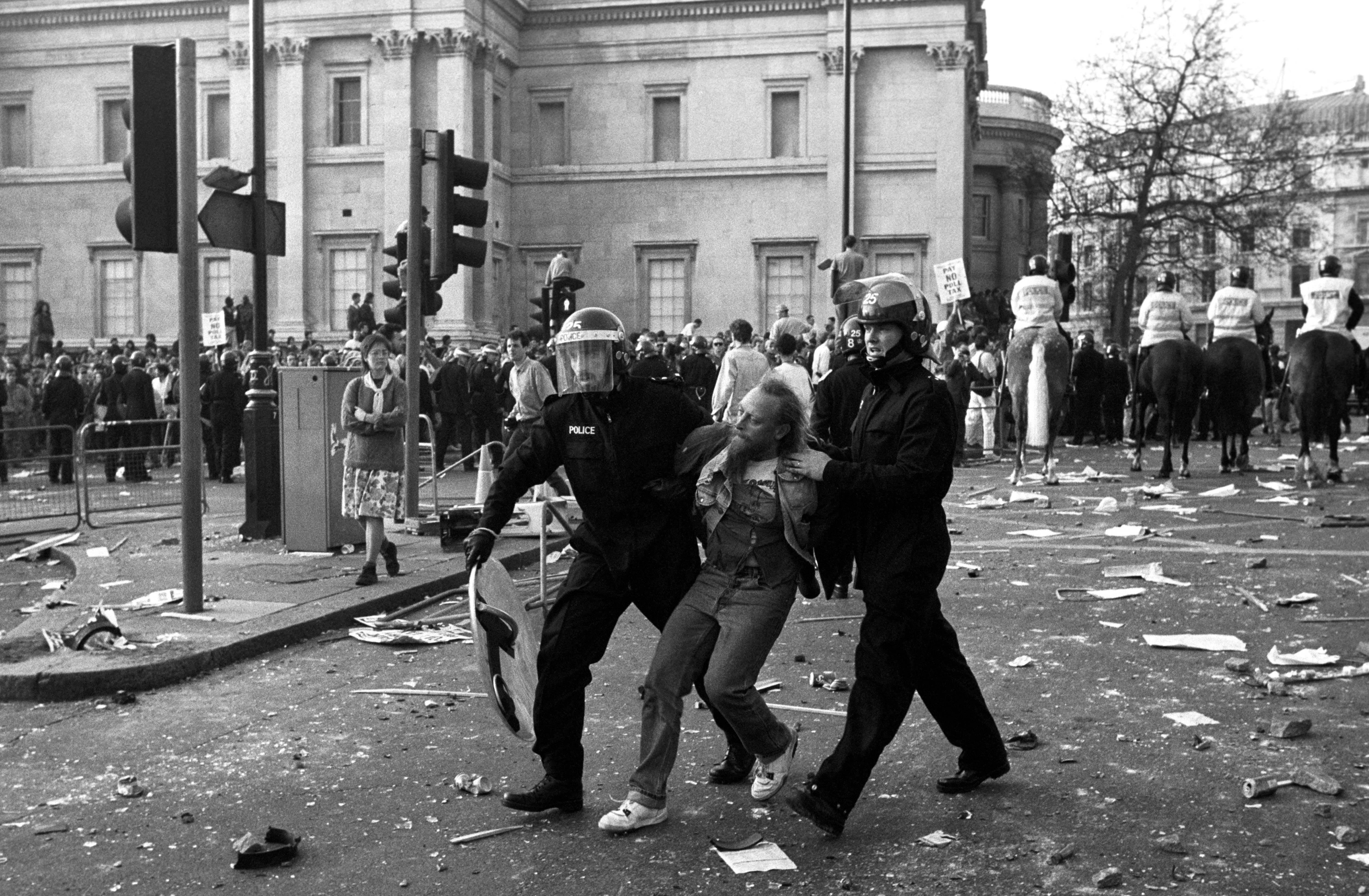 A demonstration against the Poll Tax developed into a riot. 31/3/1990