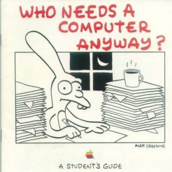Matt Groening's 1989 Apple Student's Guide
