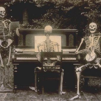 Three Skeletons At The Piano, 1893