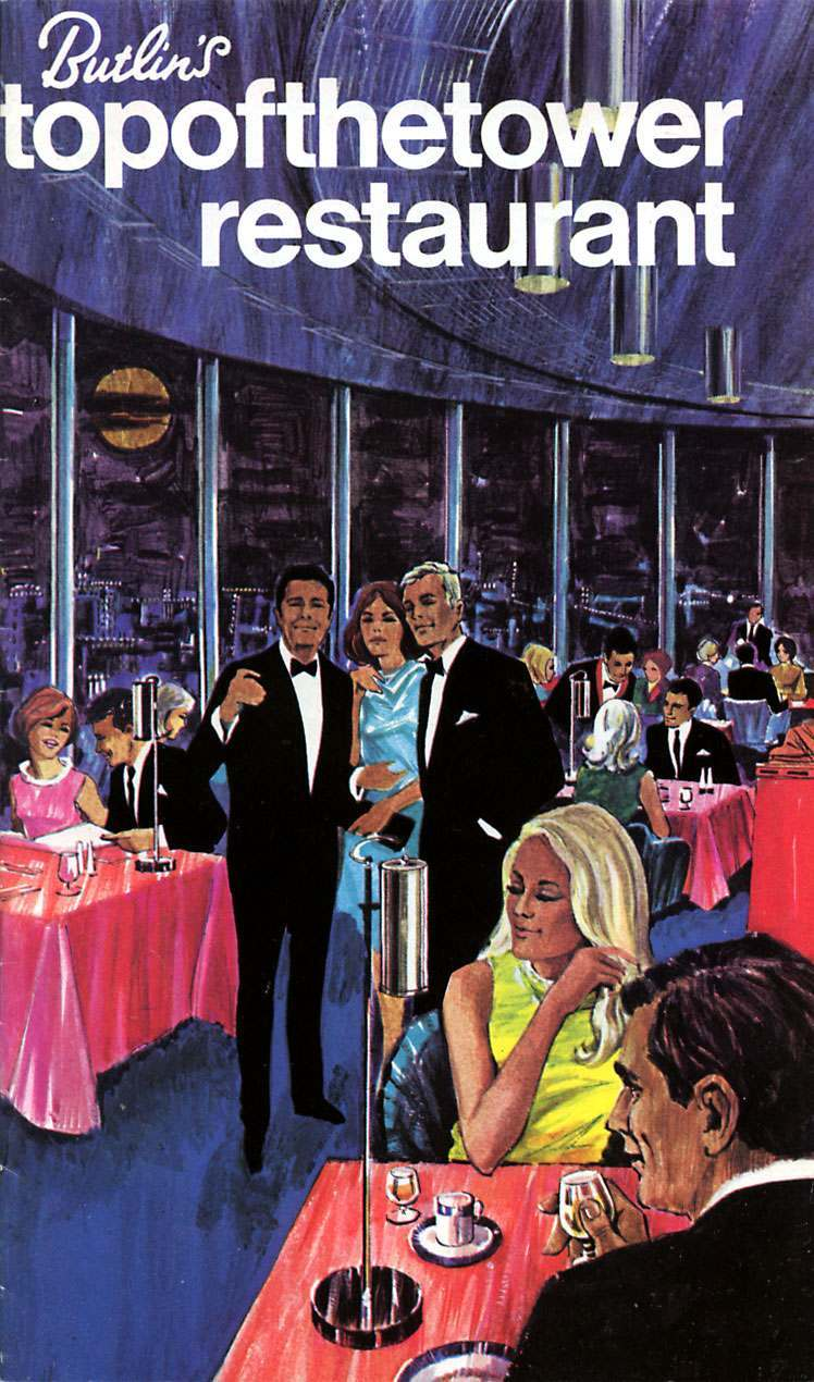 Top of the Tower restaurant menu cover