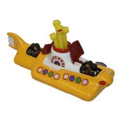 An original 1968 Corgi die-cast metal Beatles Yellow Submarine. The submarine has a revolving periscope and two red opening hatches revealing The Beatles at the front and the back. The original paintwork and transfers are all still intact and the wheels, periscope and hatches are in working order. The submarine measures 12cm x 5.5cm (5inches x 2inches). There is damage to the propeller but the submarine is otherwise in very good minus condition.