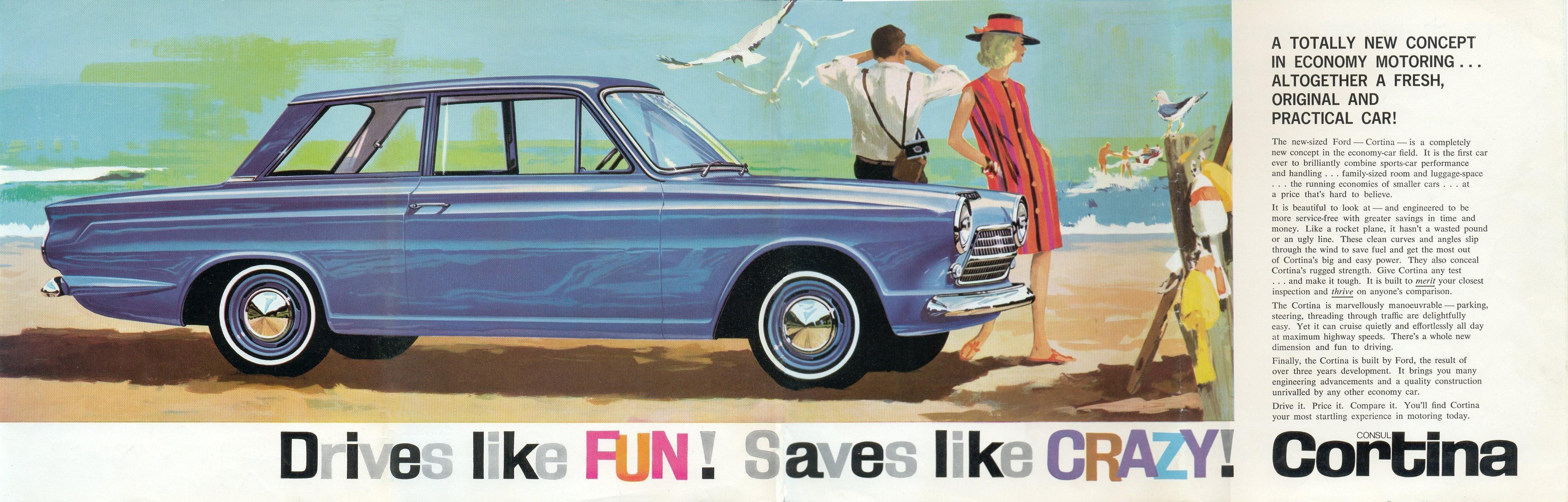 Groovy Australian Ford Cortina ad from 1963.