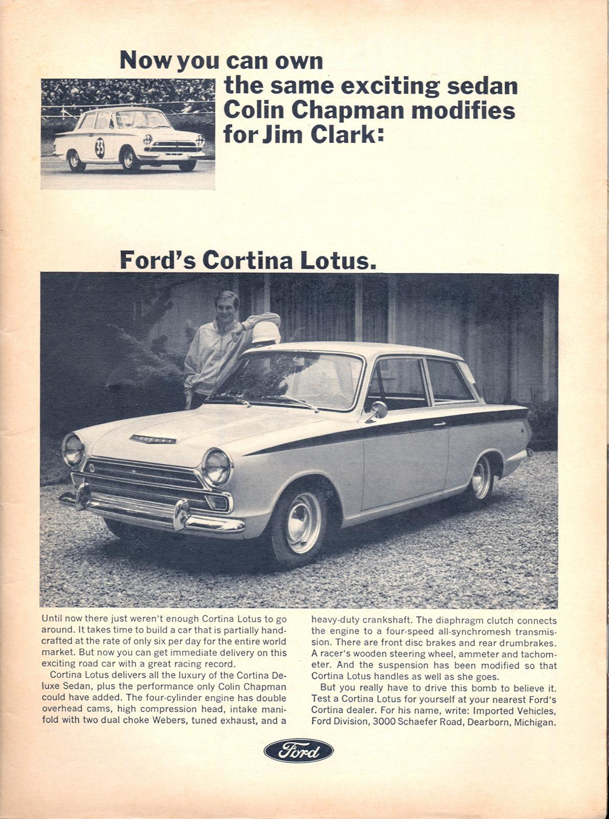 Ford Cortina Lotus Ad from 1966.