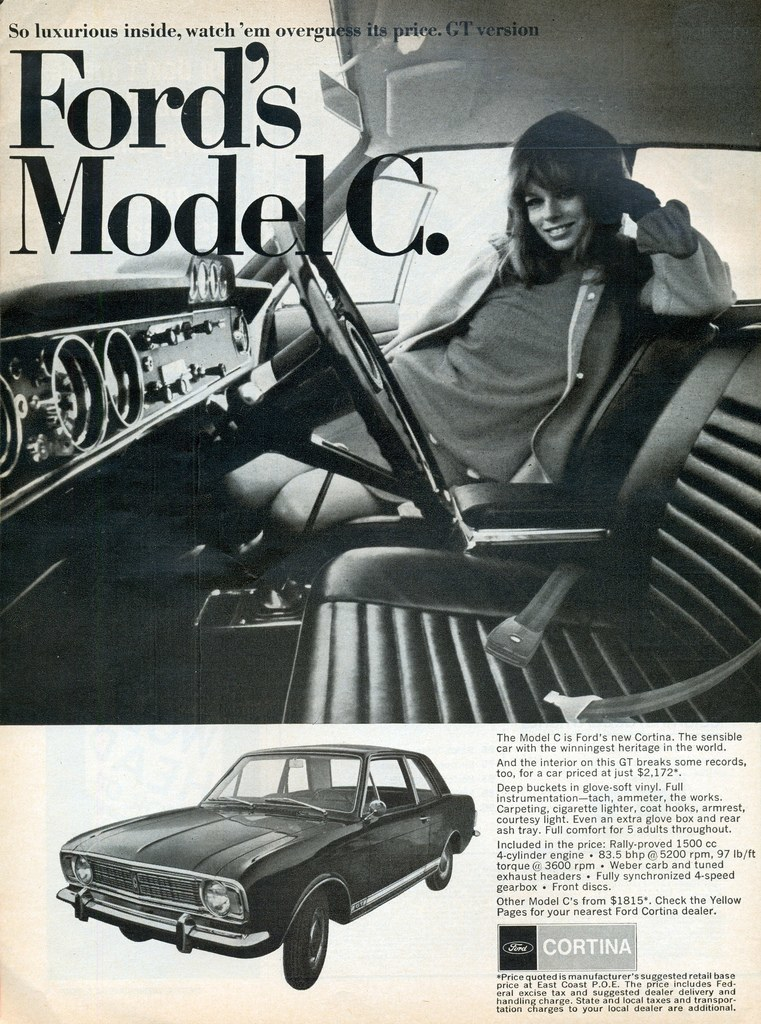 American Ford Cortina GT ad from 1967.
