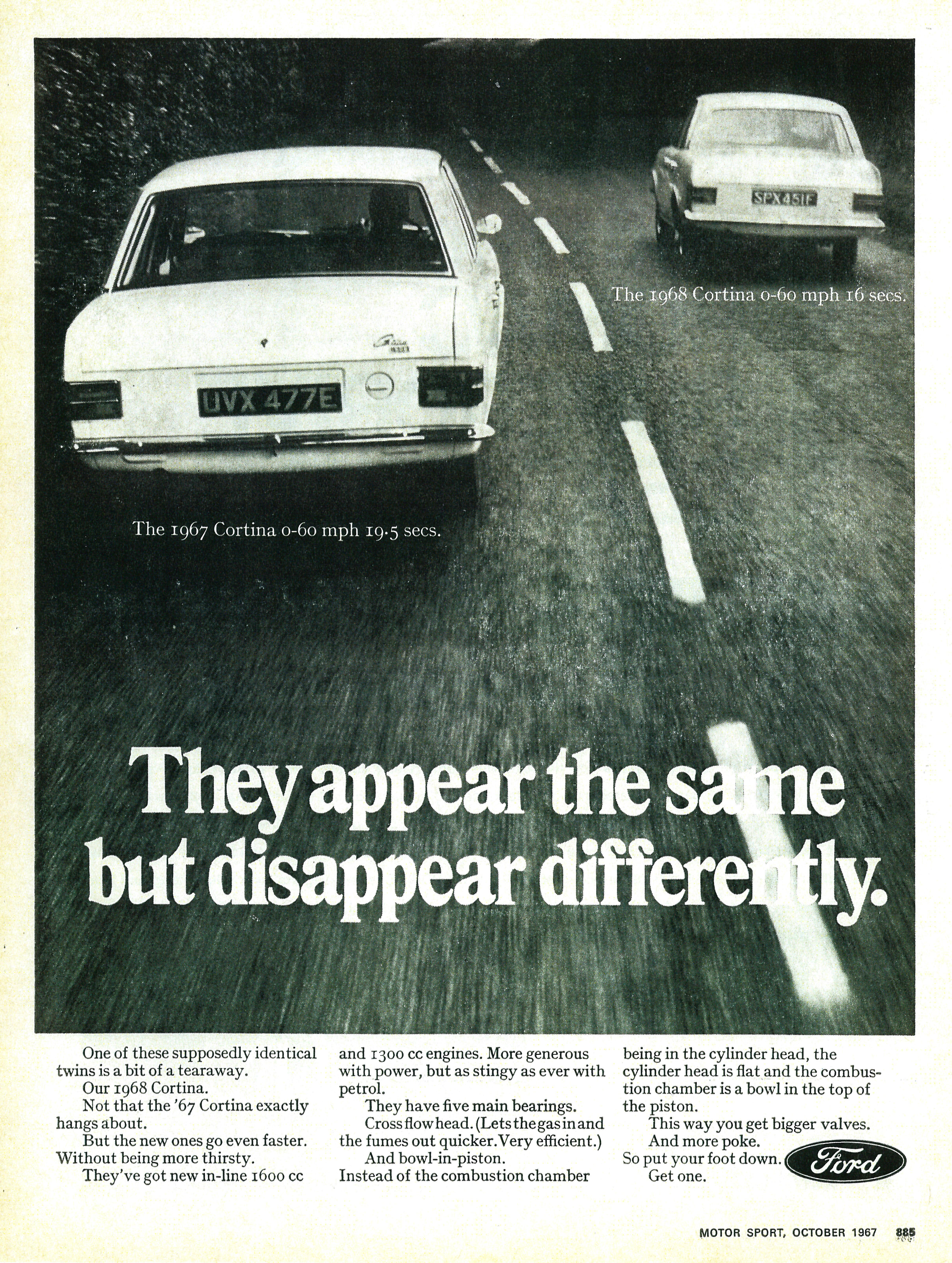 UK Ford Cortina ad from 1968.