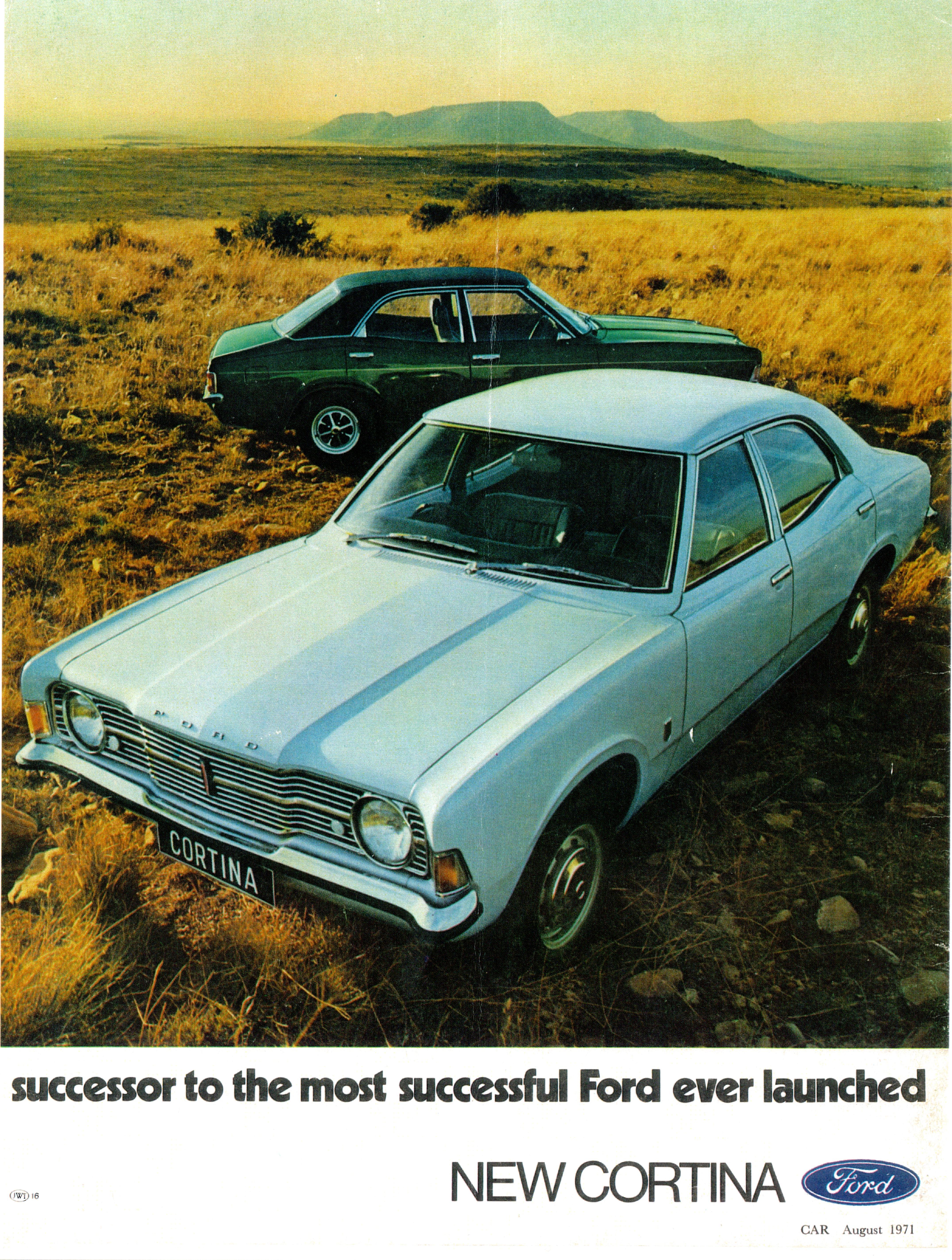 South African ad for the new Cortina Mk 3 from 1971.