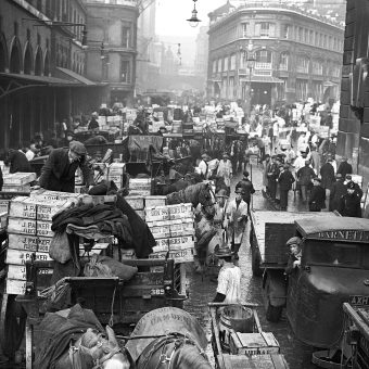 Old Billingsgate Fish Market in the City of London