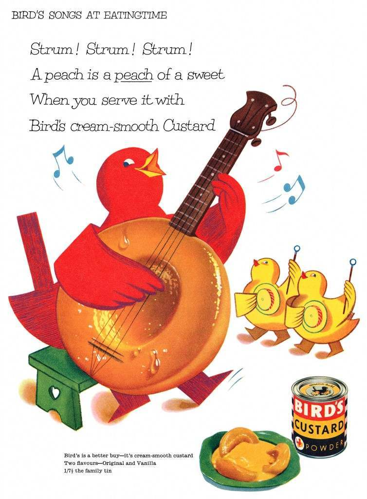 Bird's custard advert advertising