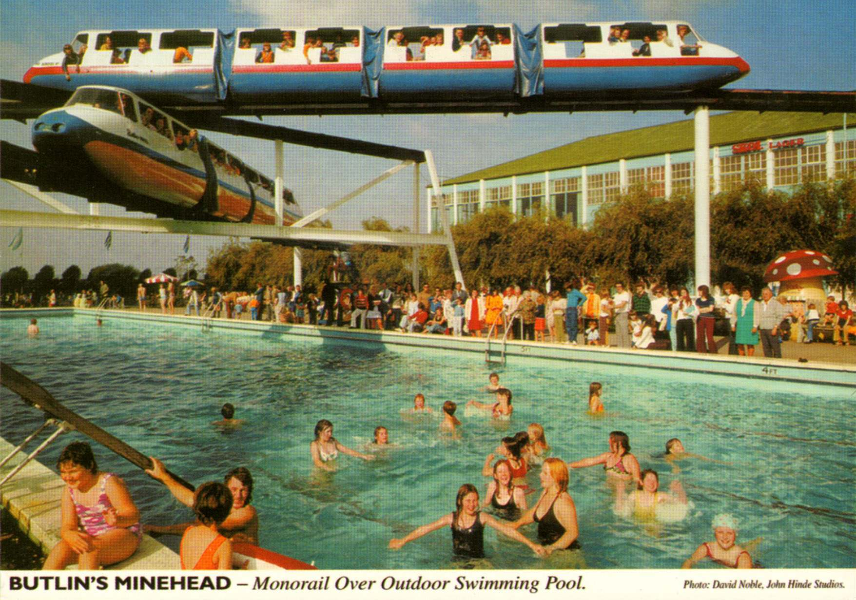 Seventeen fabulous john hinde butlin s postcards for Pool design 1970
