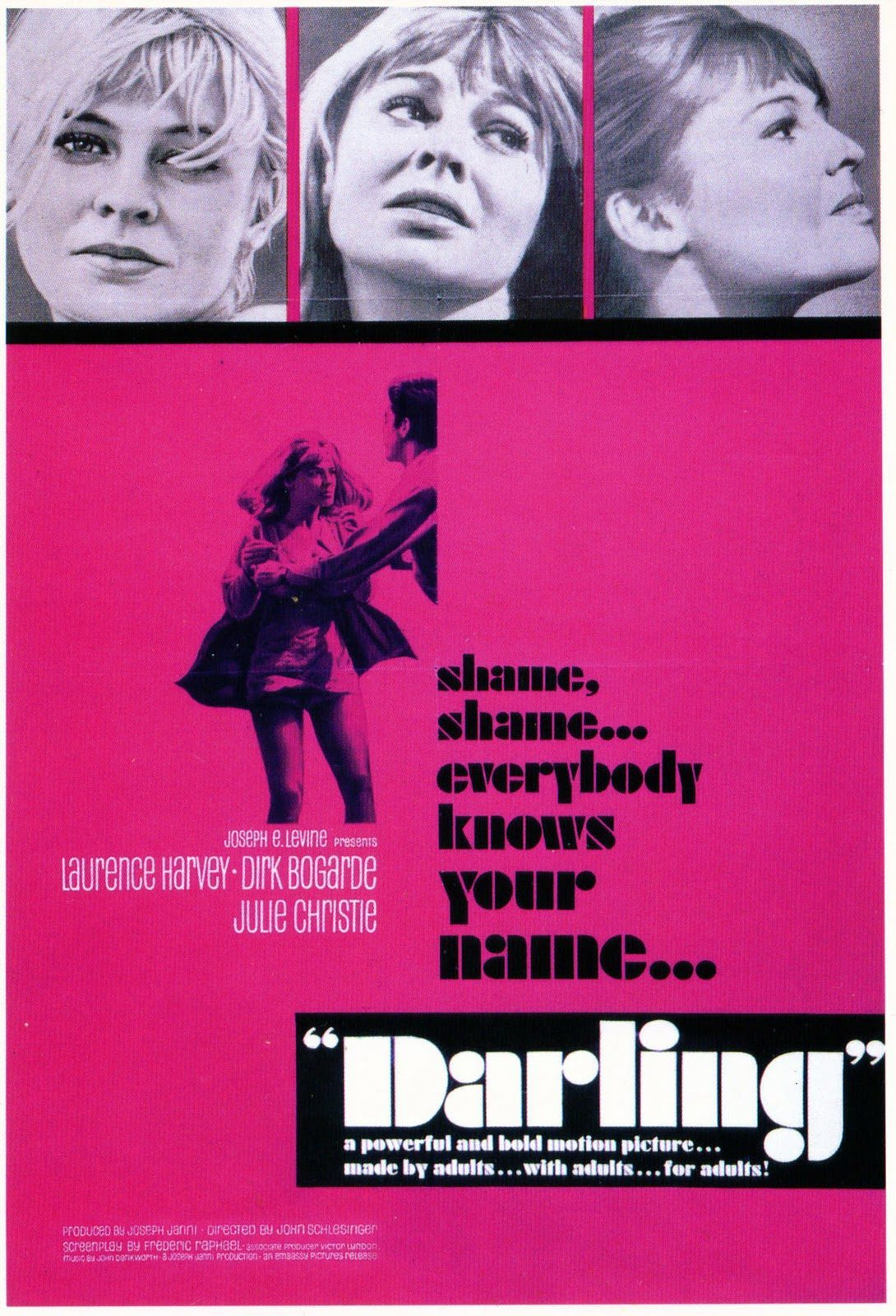 Poster for 'Darling', 1965.