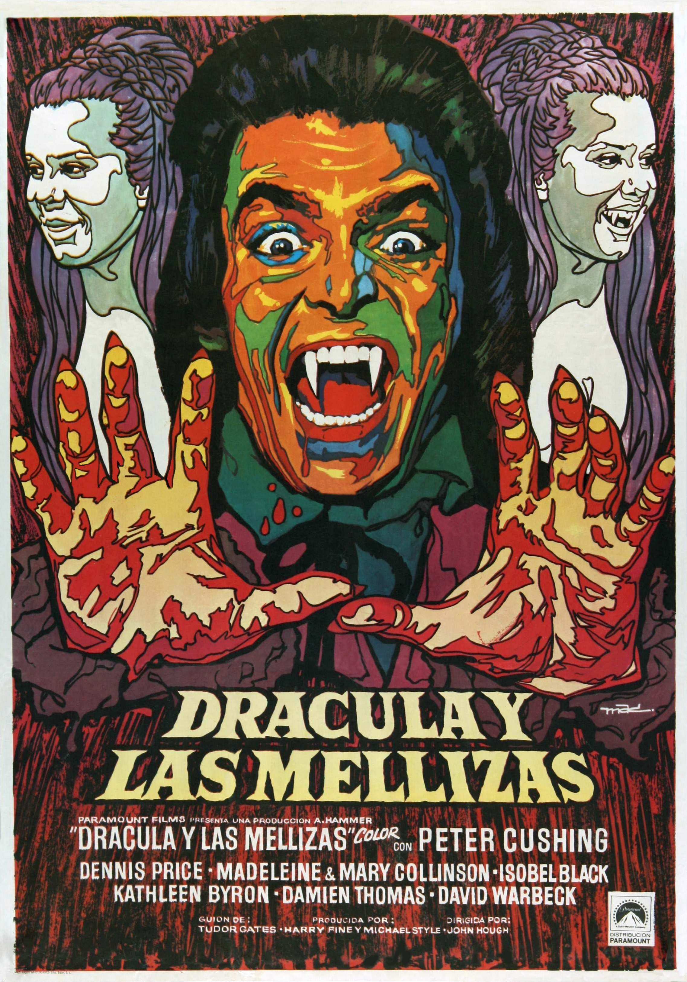 Spanish poster for Twins of Evil
