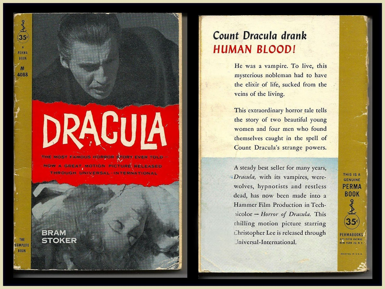 American Dracula movie tie-in version of Bram Stoker's 1897 novel
