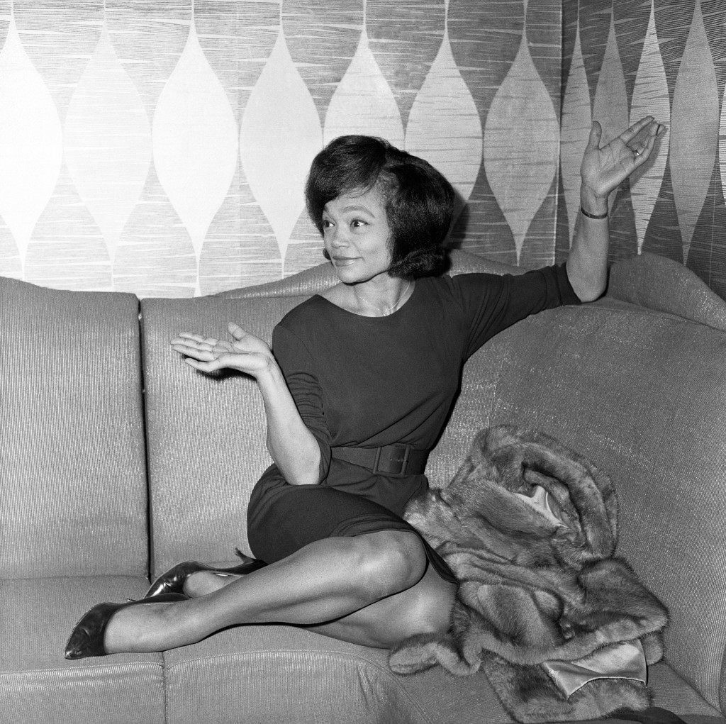 Eartha Kitt at a photo promotional shoot at the Talk of the Town in 1962, four years after opening the nightclub in 1958.